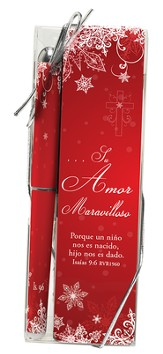 Wonders of His Love Pen and Bookmark Gift Set, Spanish