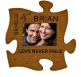 Personalized, Photo Frame, Puzzle, Love Never Fails, Cherry