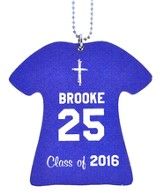 Personalized, Jersey Keychain, Graduation, Girl, Blue
