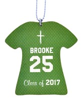 Personalized, Jersey Keychain, Graduation, Girl, Green