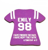 Personalized, Jersey Magnet, Keep The Faith, Girl,  Purple