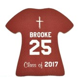 Personalized, Jersey Magnet, Graduation, Girl, Burgundy