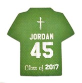 Personalized, Jersey Magnet, Graduation, Boy, Green