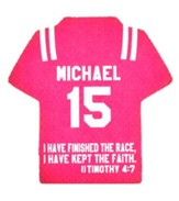Personalized, Jersey Magnet, Keep The Faith, Boy, Pink