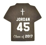 Personalized, Jersey Magnet, Graduation, Boy, Grey