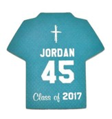 Personalized, Jersey Magnet, Graduation, Boy, Teal
