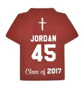 Personalized, Jersey Magnet, Graduation, Boy, Burgundy