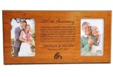 Personalized, Double Photo Frame, Anniversary Prayer,  Cherry 4X6
