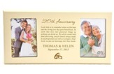 Personalized, Double Photo Frame, Anniversary Prayer, Ivory 4X6
