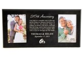 Personalized, Double Photo Frame, Anniversary Prayer,  Black 4X6