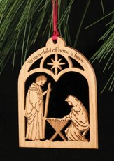 Ornament, To Us A Child Of Hope/Nativity