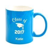 Personalized, Ceramic Mug, Graduation, Light Blue