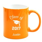 Personalized, Ceramic Mug, Graduation, Orange