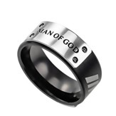 Man Of God, Lux Ring, Black, Size 9