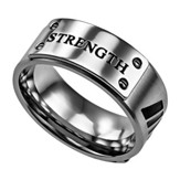 Strength, Lux Ring Silver, Size 8