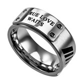 True Love Waits Men's Lux Ring, Silver, Size 10