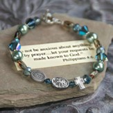 Do not be anxious about anything...stunning colors bracelet