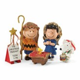 Peanuts 65th Anniversary Nativity Set Pageant 5 Pieces