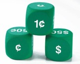 Large Money Foam Dice, Set of 6