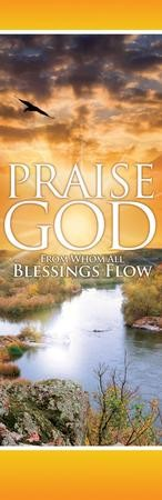 From Whom All Blessings Flow Vinyl Banner