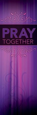Pray Together, Purple Vinyl Banner