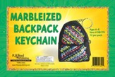 Faithbook VBS: Marbelized Backpack Keychain, pack of 12