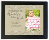 Daddy's Little Girl Photo Frame, Black