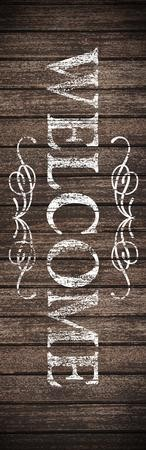 Rustic Charm Welcome Vinyl Banner (2 x 6)