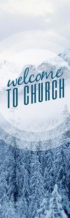 Season Welcome Snow Vinyl Banner (2 x 6)