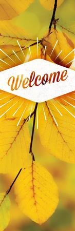 Welcome Burst Vinyl Banner (2 x 6)
