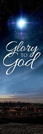 Glory to God Bethlehem Vinyl Banner (2 x 6)