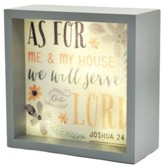 As For Me And My House (Joshua 24:15), LED Lighted Art