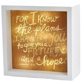 For I Know The Plans (Jeremiah 29:11), LED Lighted Art
