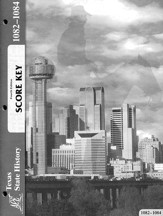 Texas History ACE PACE SCORE Key 1082-1084, Grade 7, 4th Edition