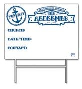The Redeemer VBS: Community Yard Sign with Stand