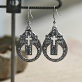 Open Cross Earrings