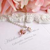 Child's Crystal Heart Drop Necklace
