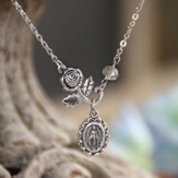 Rose and Mary, Medallion Necklace