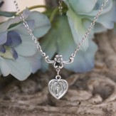 Mary Heart Medal Necklace
