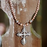 Isabella, Vintage Cross Necklace