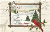Let Heaven And Nature Sing, Box of 20 Christmas Cards