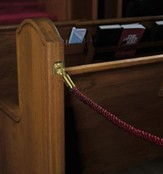 Permanent Pew Rope, Burgundy 4 foot