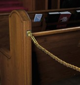 Permanent Pew Rope, Gold 12 foot