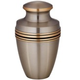 Satin Finish Brass Memorial Urn