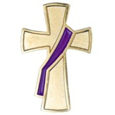 Deacon Cross Pin, Purple Sash
