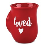 Loved, Handwarmer Mug, Red