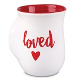 Loved, Handwarmer Mug, White