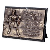 He Fights For You, Sculpted Plaque