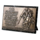 His Strength, Sculpted Plaque