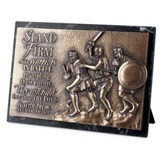 Stand Firm, Sculpted Plaque